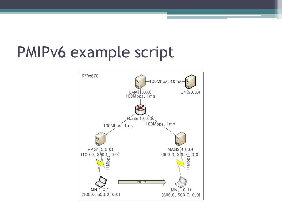 PMIPv6 example script