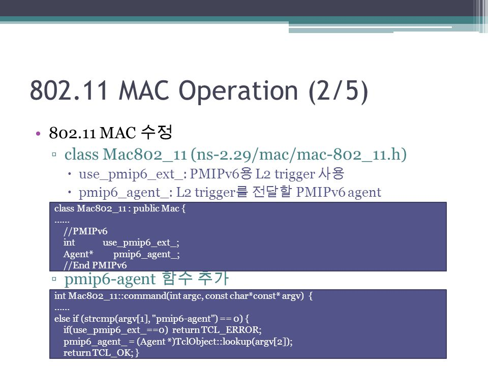 802.11 MAC Operation (2/5) 802.11 MAC 수정