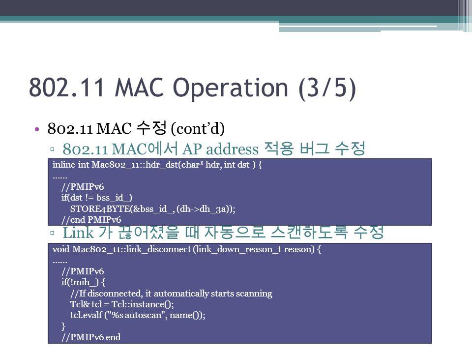 802.11 MAC Operation (3/5) 802.11 MAC 수정 (cont'd)