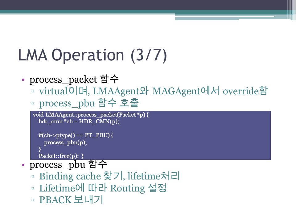 LMA Operation (3/7) process_packet 함수