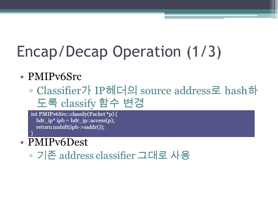 Encap/Decap Operation (1/3)