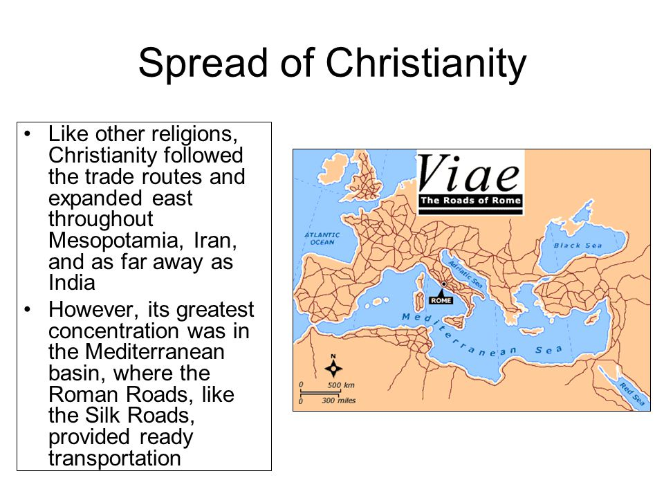 spread of christianity Free essay: the spread of buddhism and christianity buddhism and christianity were each founded by one person, and then eventually grew into two of the.