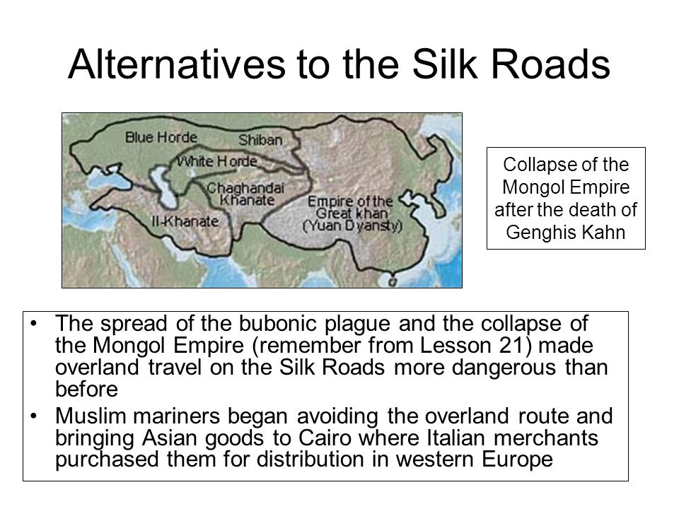 Alternatives to the Silk Roads