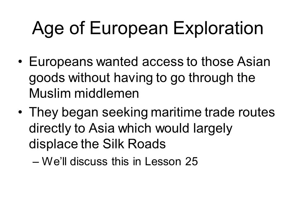 Age of European Exploration