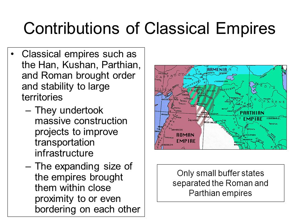 Contributions of Classical Empires