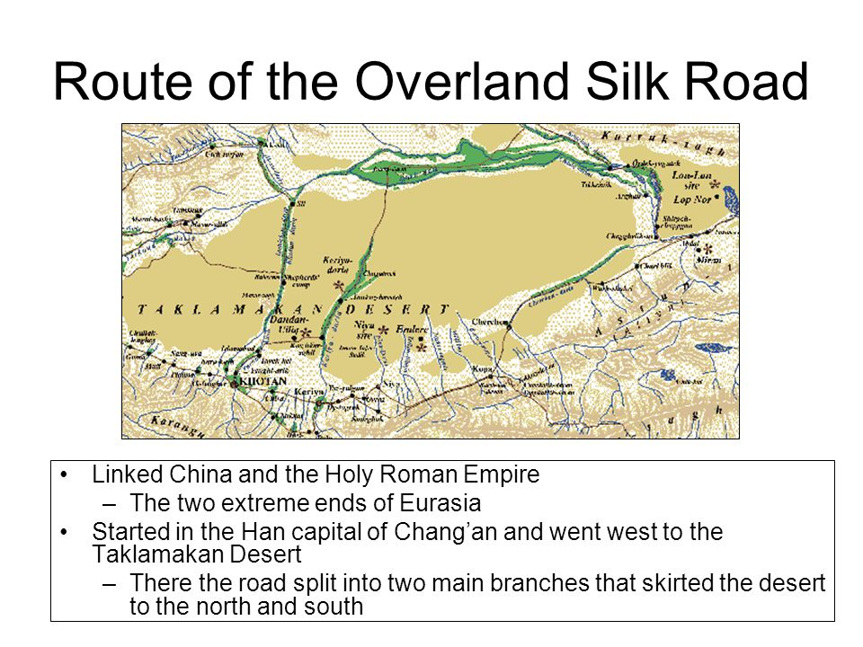 Route of the Overland Silk Road