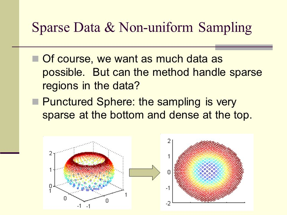 Sparse Data & Non-uniform Sampling