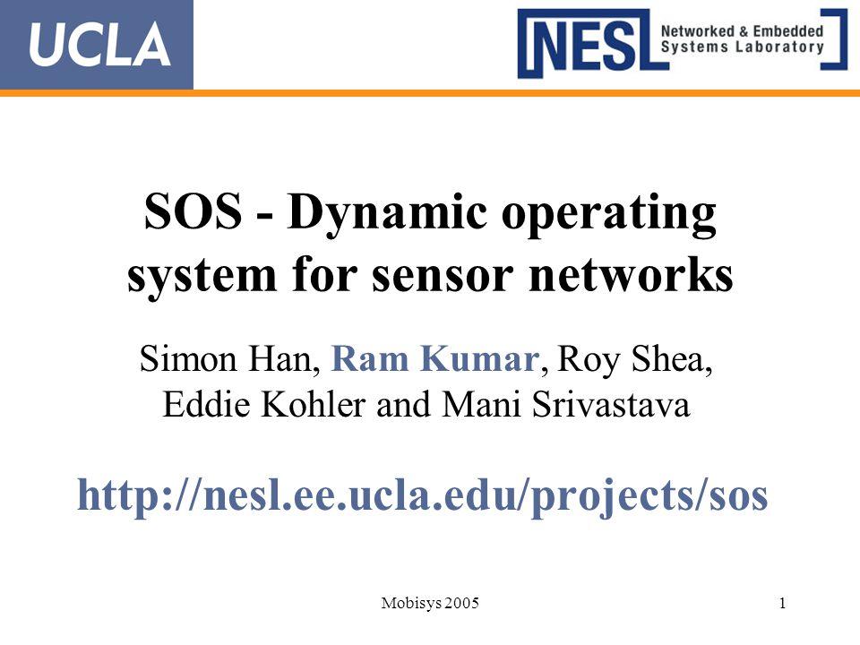 SOS - Dynamic operating system for sensor networks