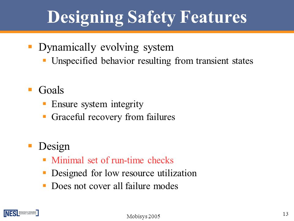 Designing Safety Features