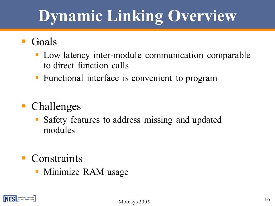 Dynamic Linking Overview