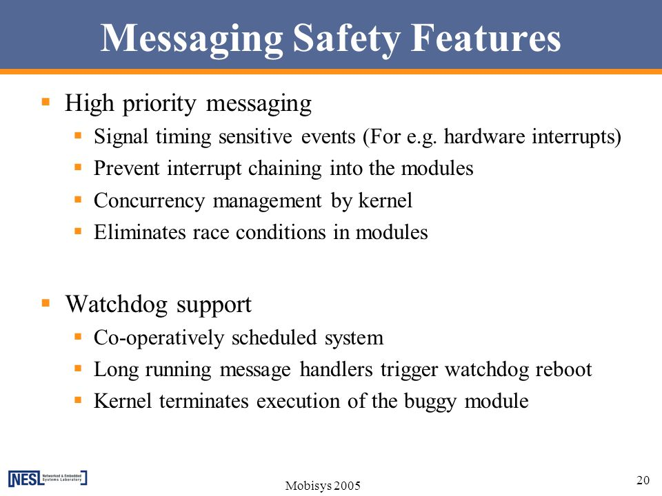 Messaging Safety Features