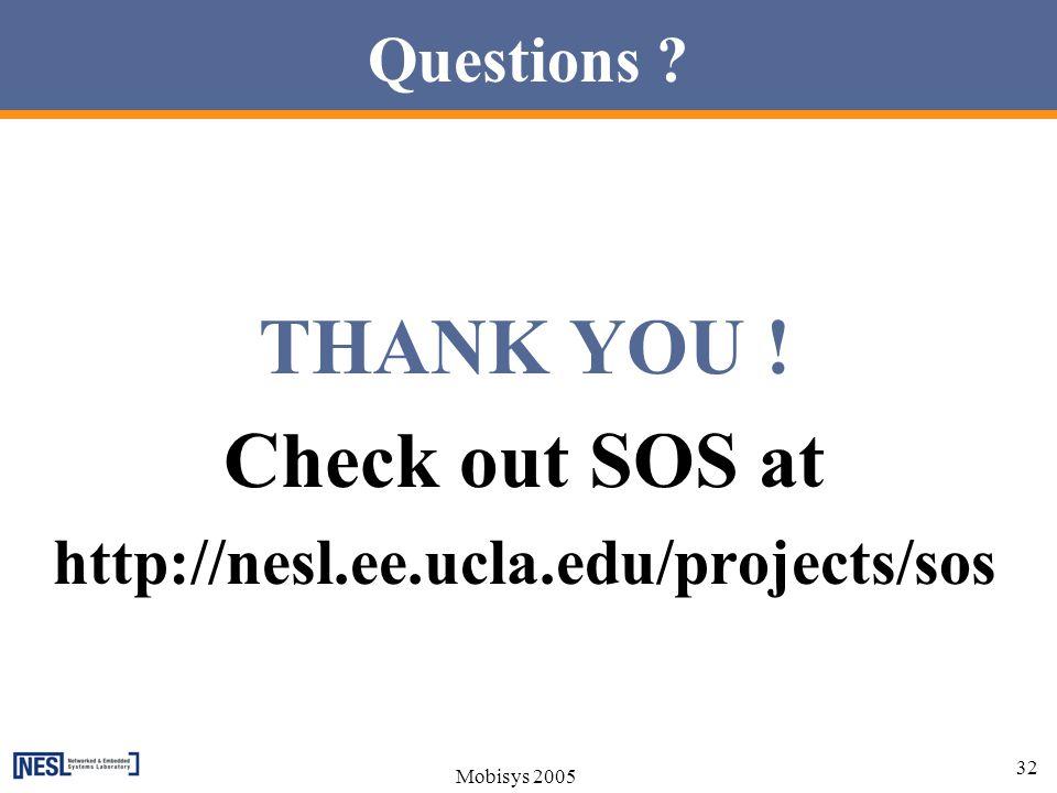 THANK YOU ! Check out SOS at