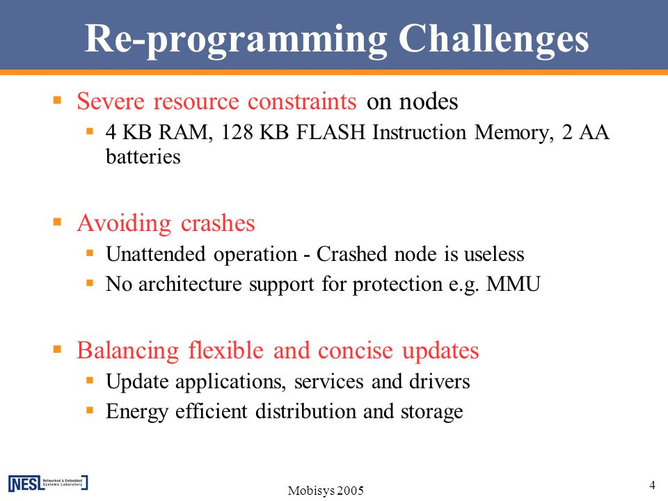 Re-programming Challenges