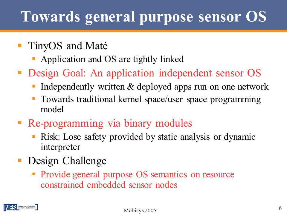 Towards general purpose sensor OS