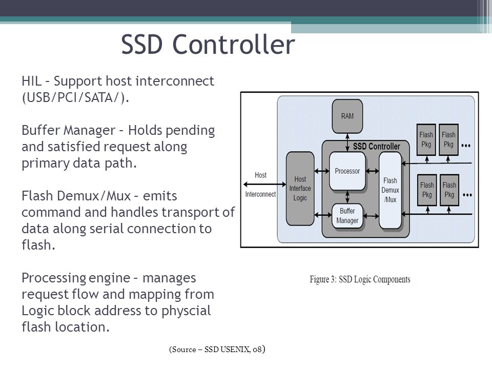 SSD Controller HIL – Support host interconnect (USB/PCI/SATA/).