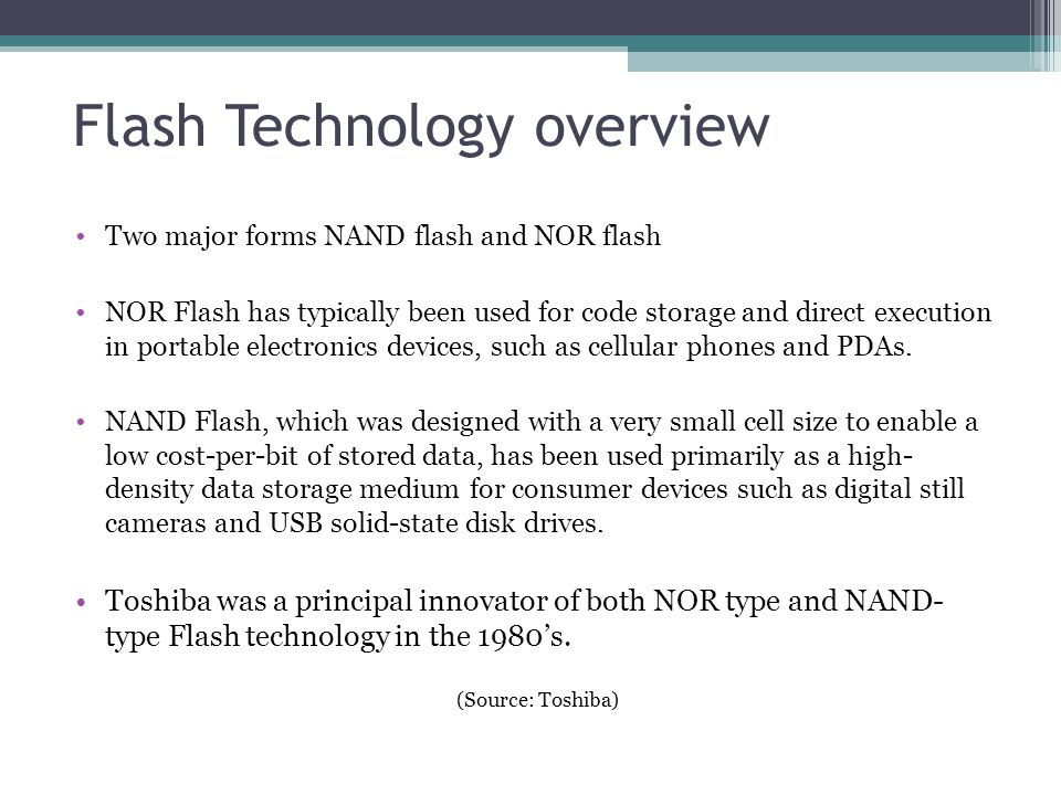 Flash Technology overview