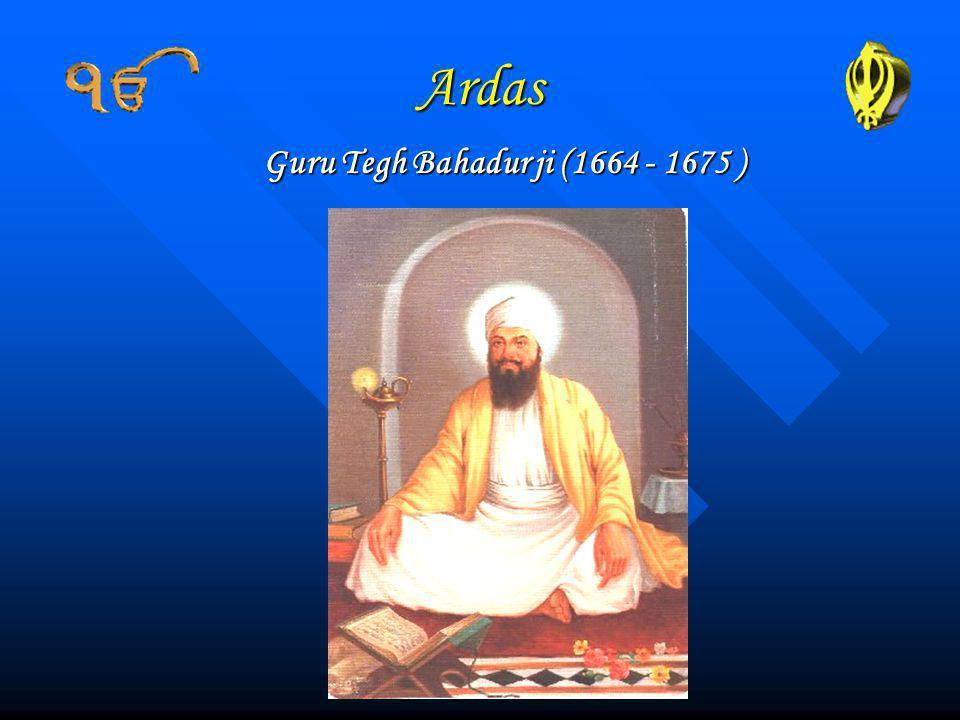 Guru Tegh Bahadur ji (1664 - 1675 )
