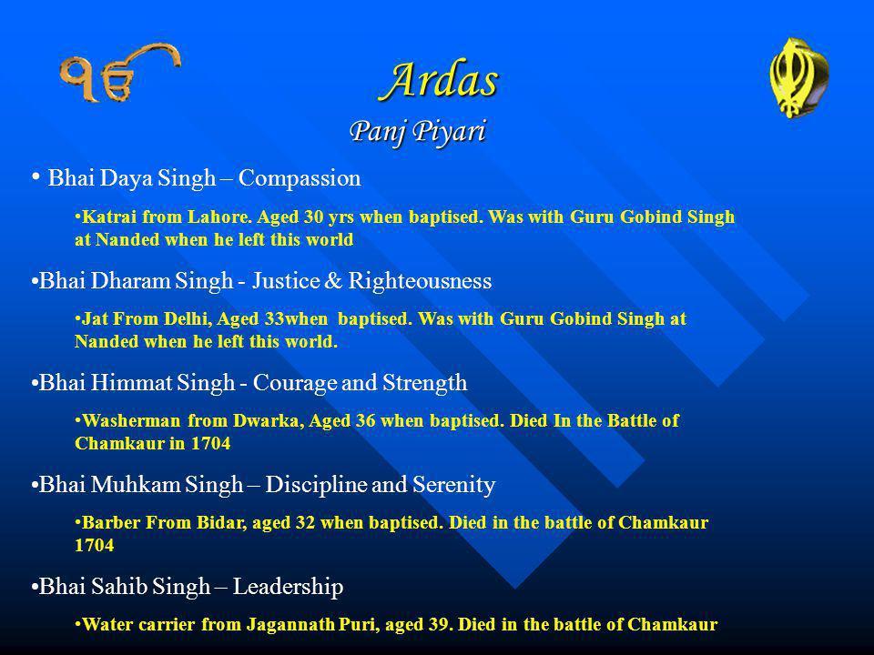 Ardas Panj Piyari Bhai Daya Singh – Compassion