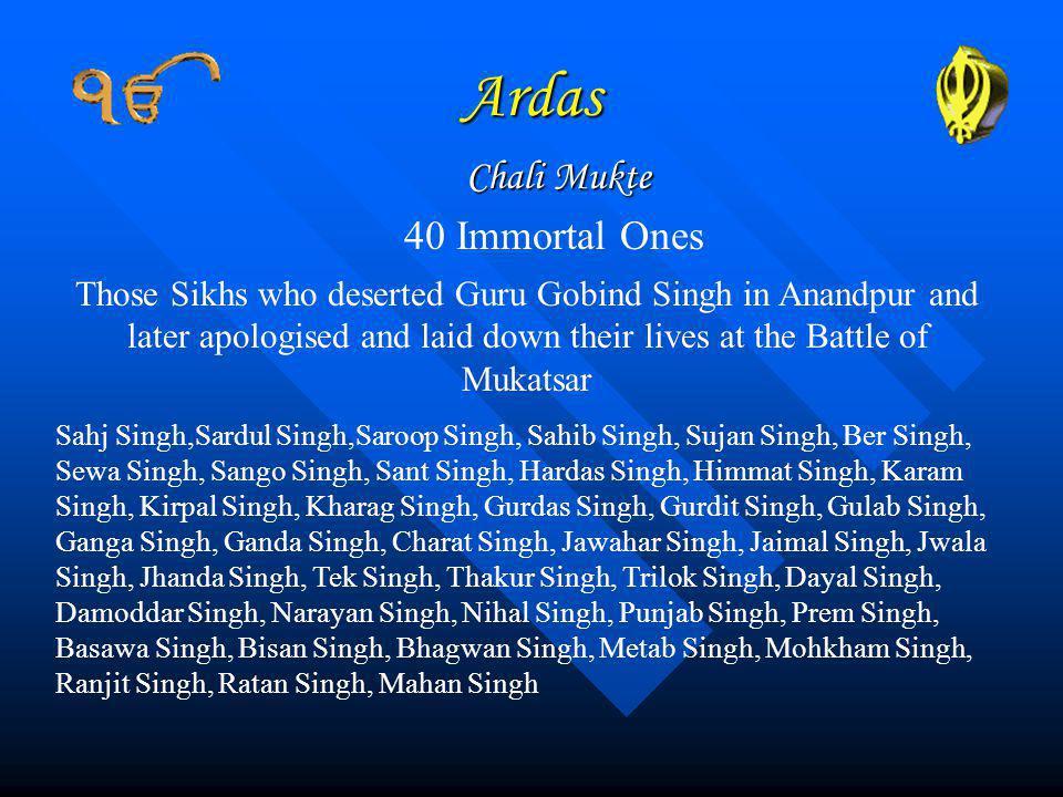 Ardas Chali Mukte 40 Immortal Ones