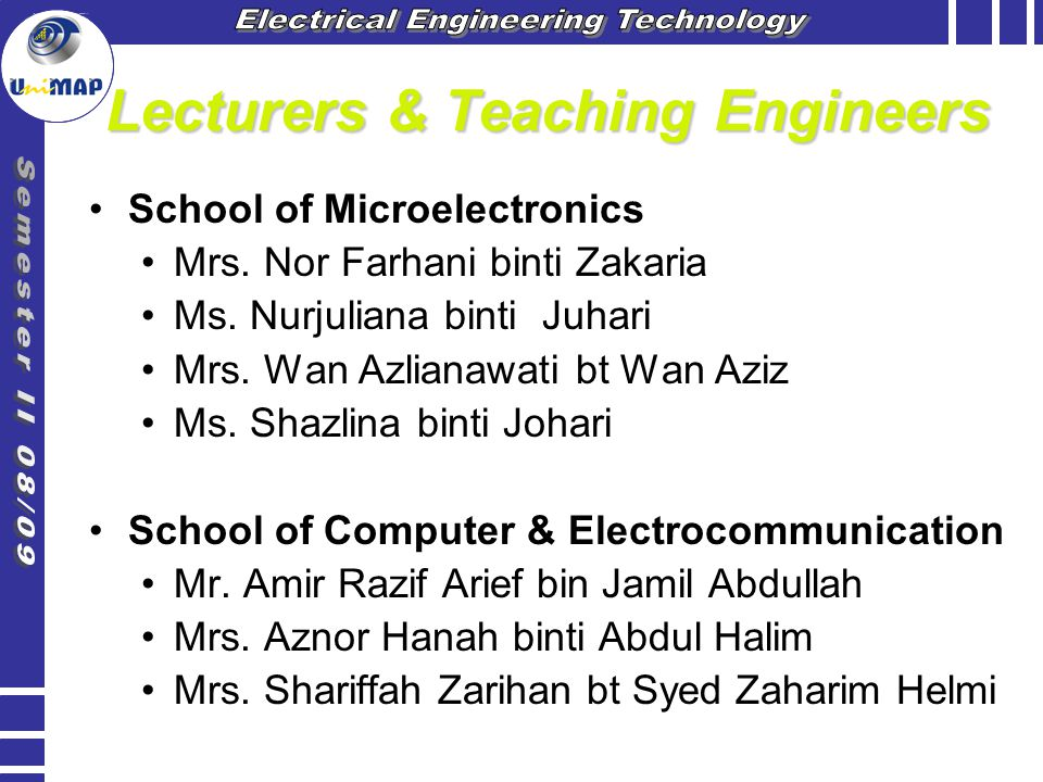 Lecturers & Teaching Engineers
