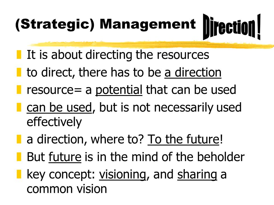 (Strategic) Management