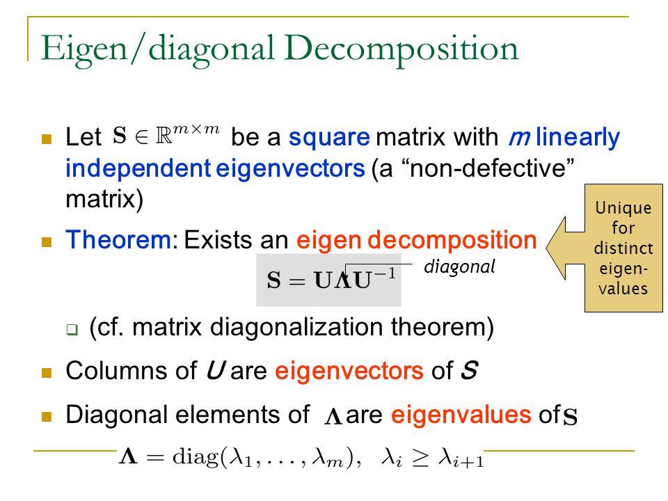 Eigen/diagonal Decomposition