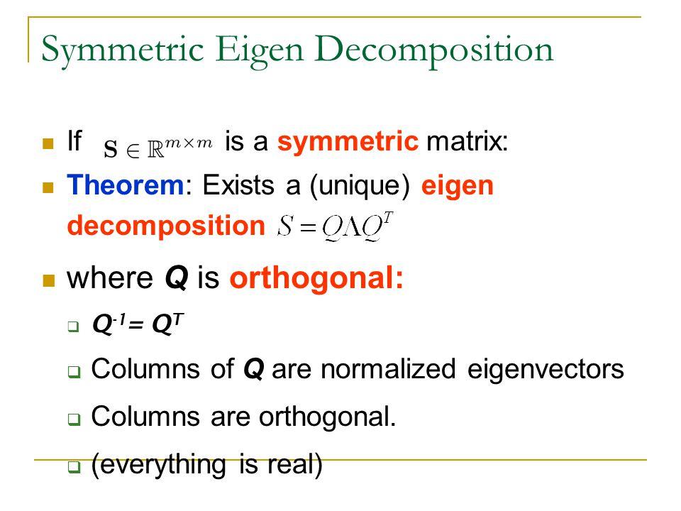 Symmetric Eigen Decomposition