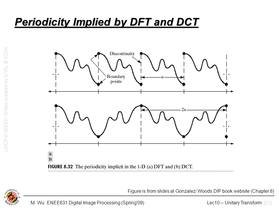 Periodicity Implied by DFT and DCT