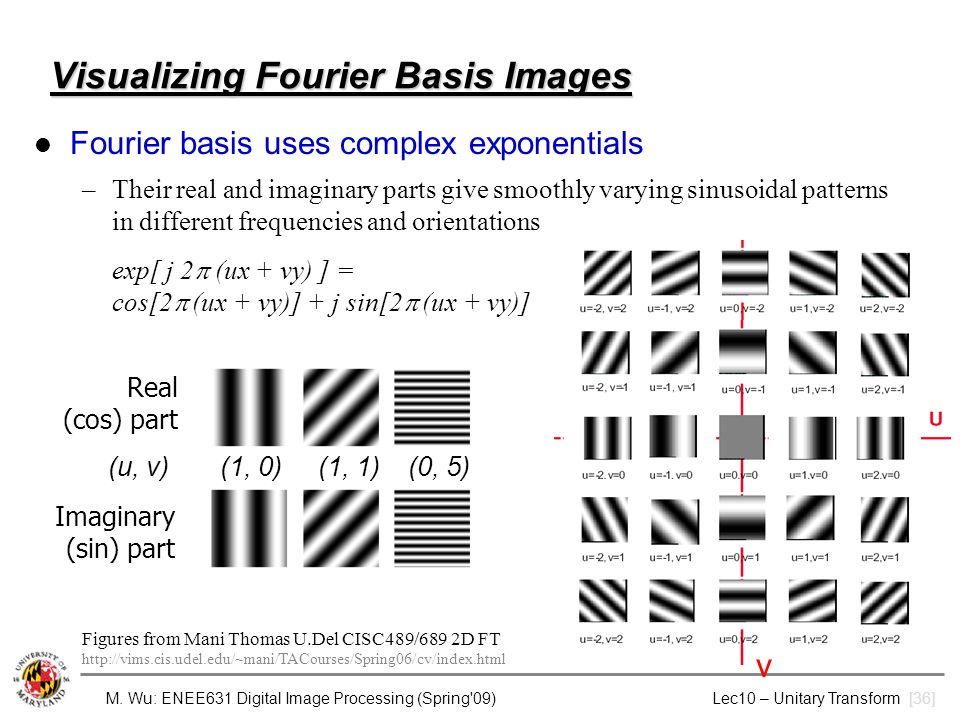 Visualizing Fourier Basis Images