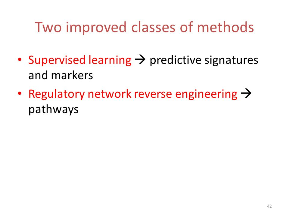 Two improved classes of methods