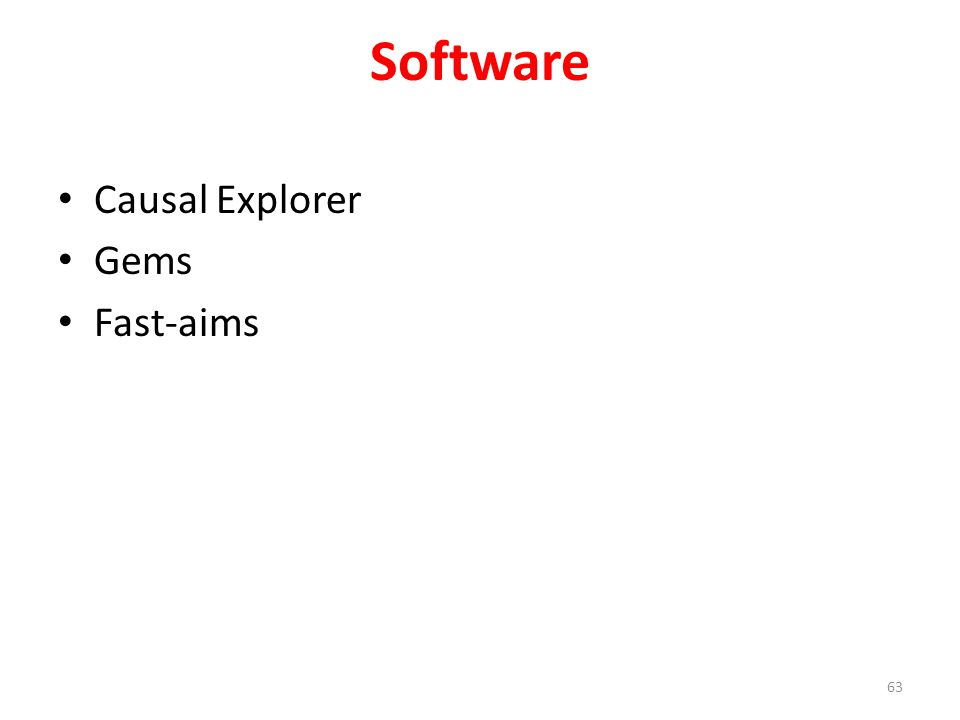 Software Causal Explorer Gems Fast-aims