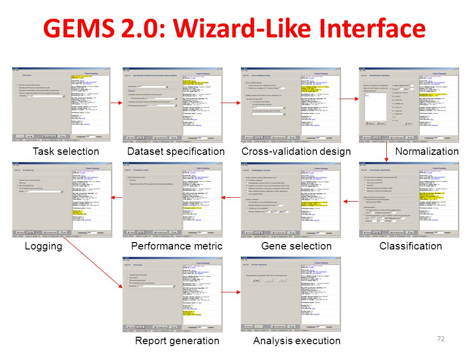GEMS 2.0: Wizard-Like Interface