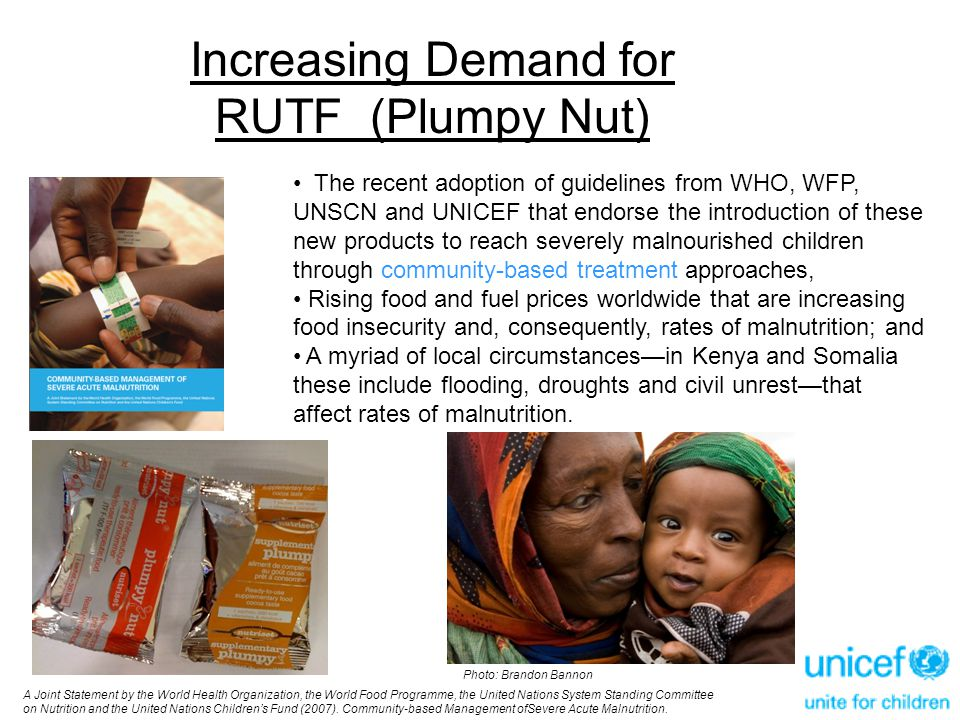 Increasing Demand for RUTF (Plumpy Nut)