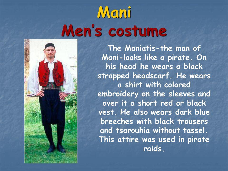 Mani Men's costume