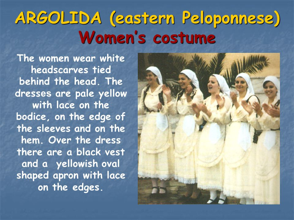 ARGOLIDA (eastern Peloponnese) Women's costume