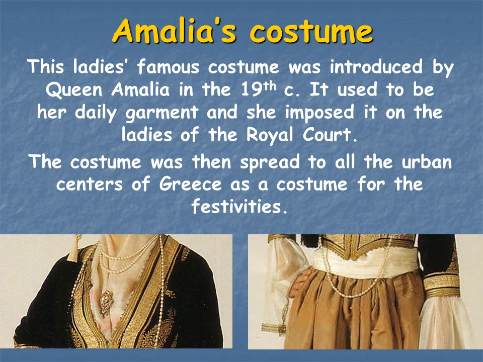 Amalia's costume