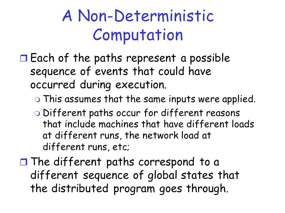 A Non-Deterministic Computation