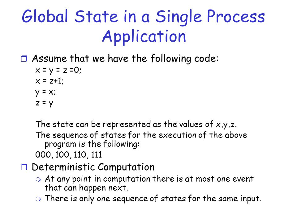 Global State in a Single Process Application