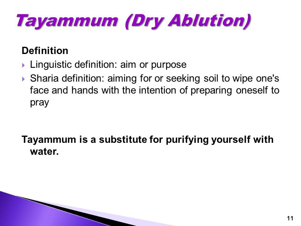 Tayammum (Dry Ablution)