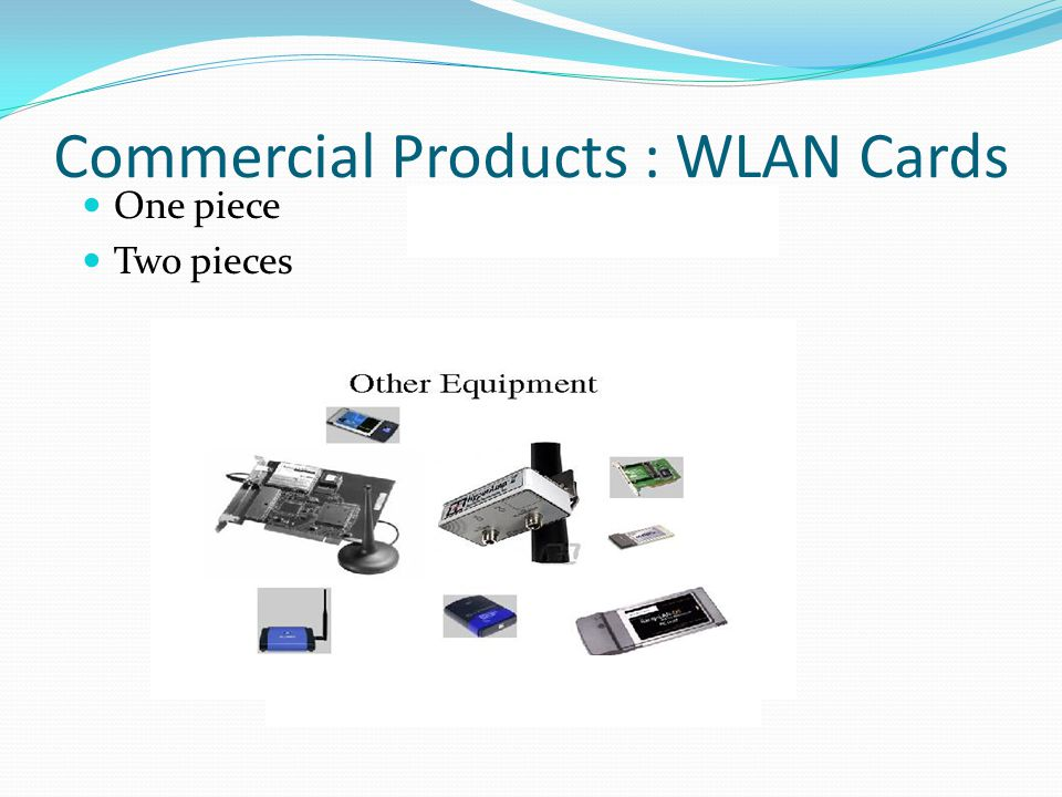 Commercial Products : WLAN Cards