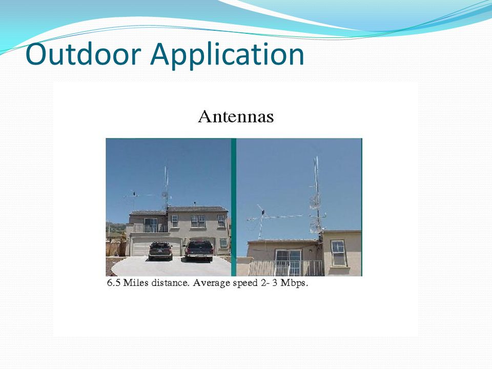 Outdoor Application