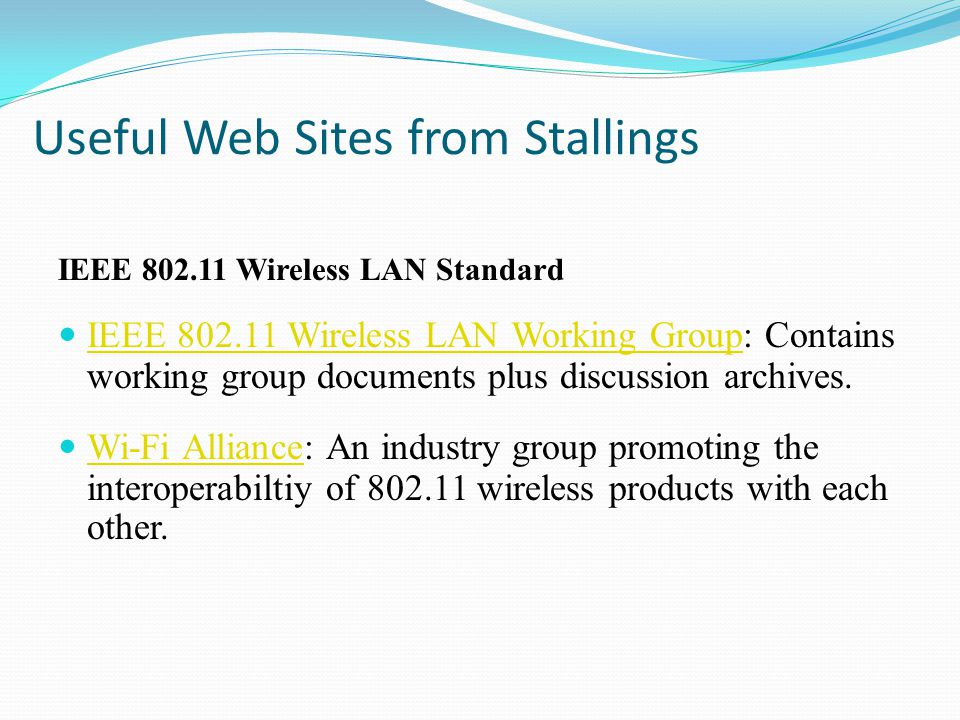 Useful Web Sites from Stallings