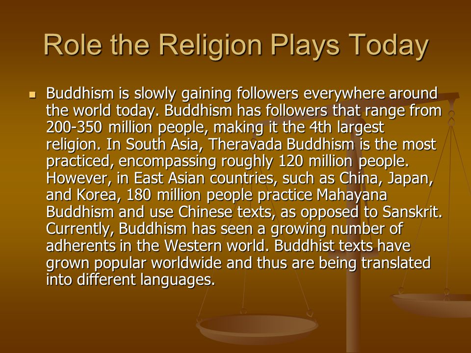 Role the Religion Plays Today