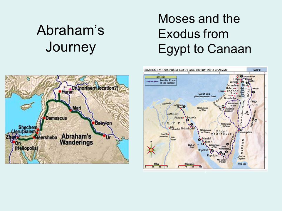 Moses and the Exodus from Egypt to Canaan