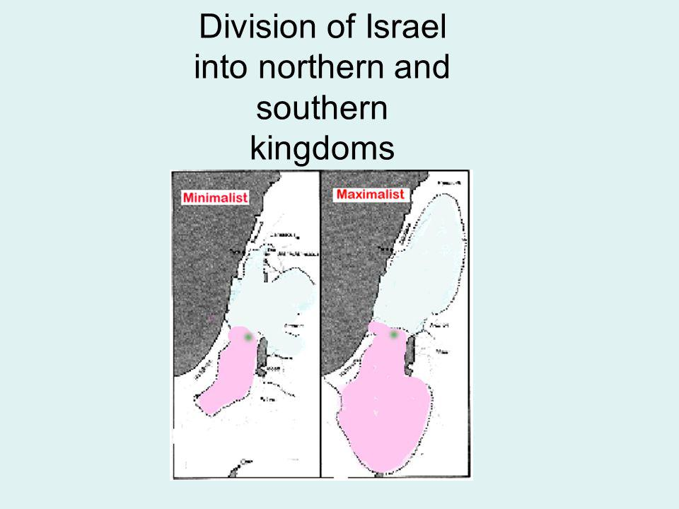 Division of Israel into northern and southern kingdoms
