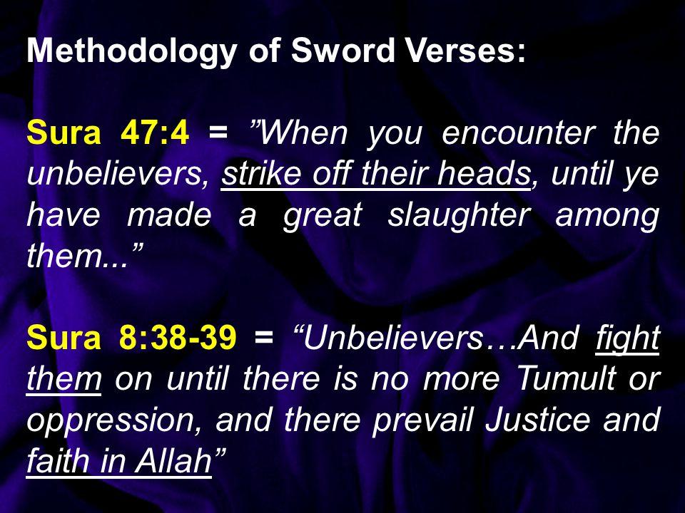 Methodology of Sword Verses: