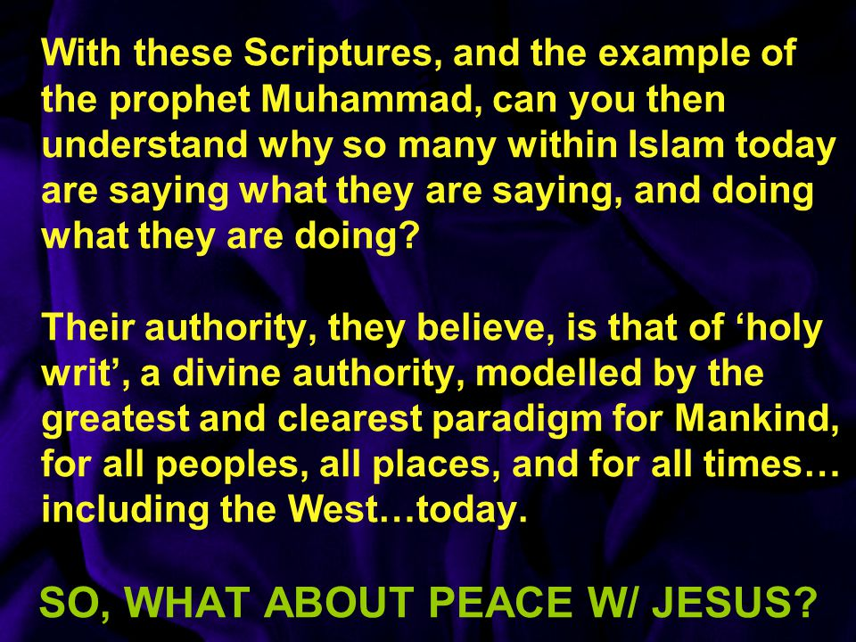 SO, WHAT ABOUT PEACE W/ JESUS
