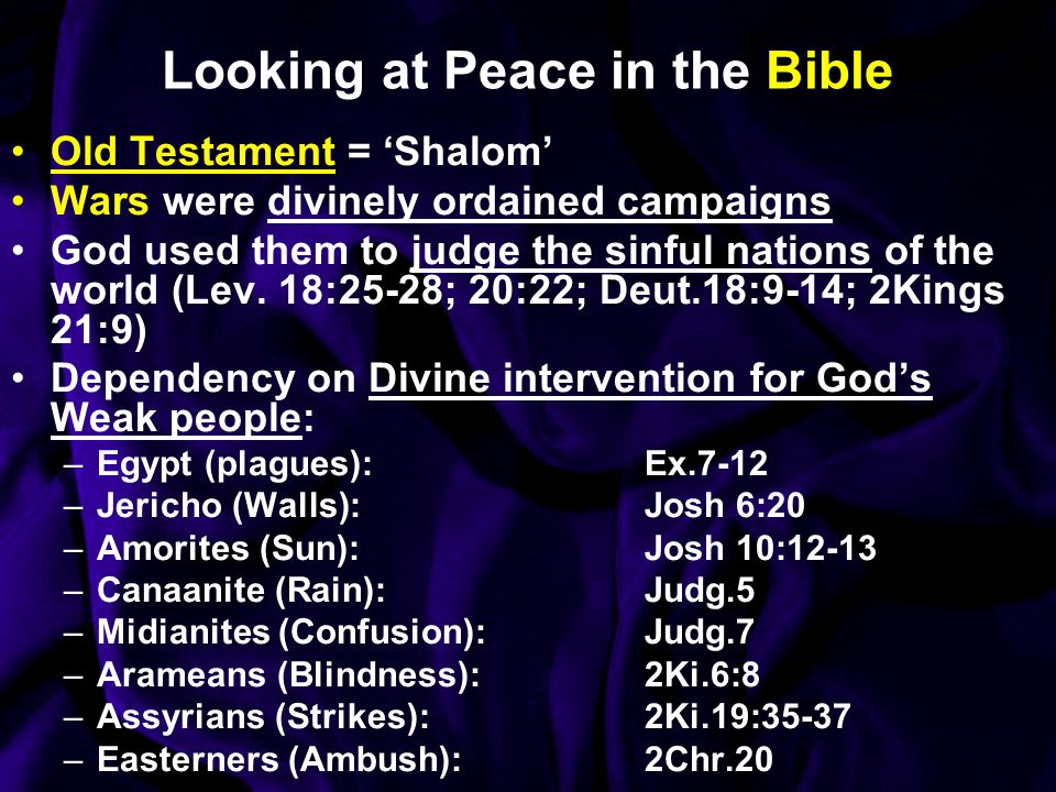 Looking at Peace in the Bible