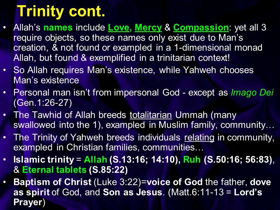 Trinity cont.