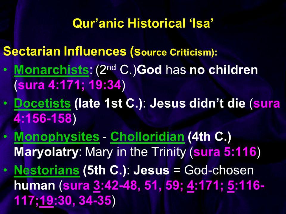 Qur'anic Historical 'Isa'